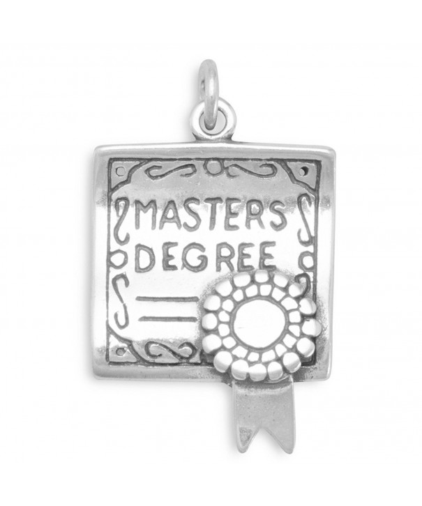 Sterling Silver Masters Degree Charm
