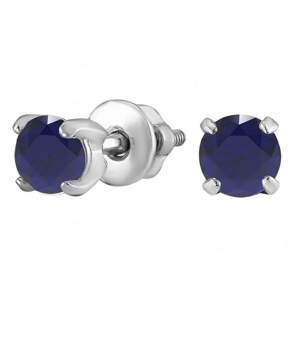 Rhodium Plated Sterling Earrings Zirconia Gemstones