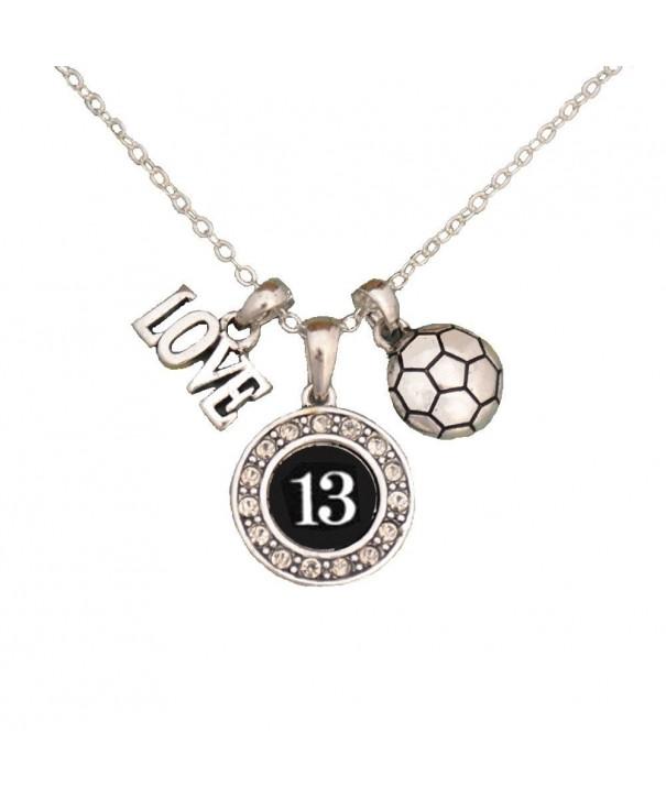 Custom Player Soccer Necklace Size