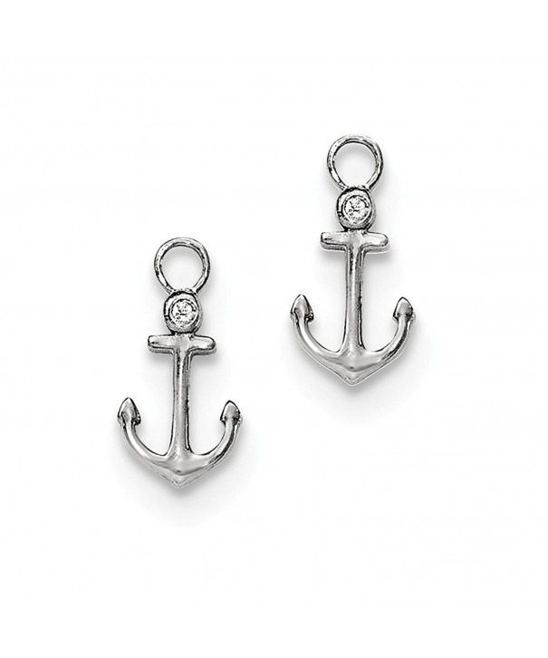 Sterling Zirconia Mariner Earring Enhancers