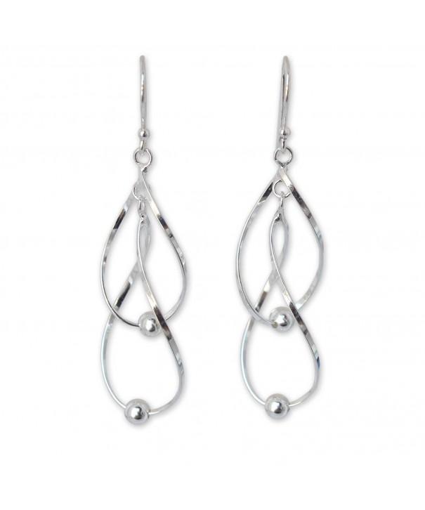 NOVICA Sterling Earrings Fabulous Infinity