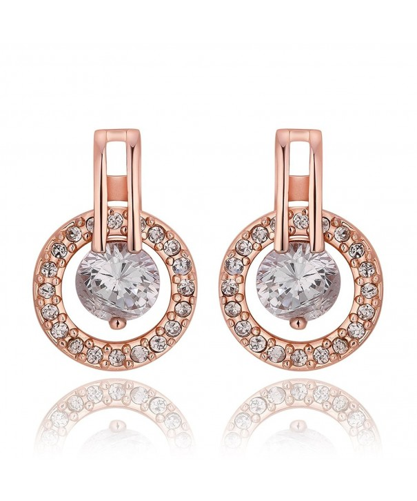 Plated Earrings Women Jewelry Zirconia