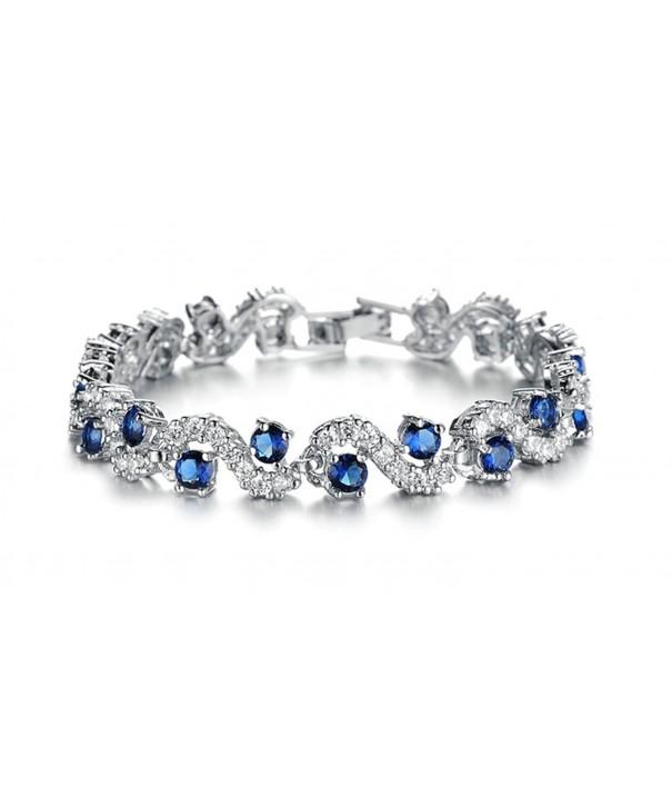 Beydodo Platinum Plating Bracelets Zirconia
