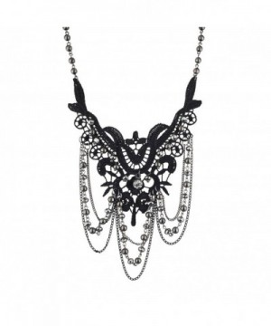 Lux Accessories Hematite Statement Necklace