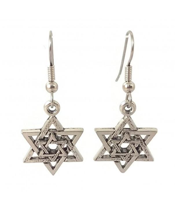 Surgical Steel Dangle Earrings Silver