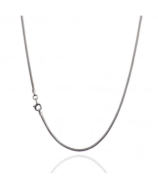 Sterling Silver Chain Necklace Clasp RHODIUM