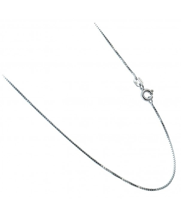 Chain Rhodium Plated Sterling Necklace