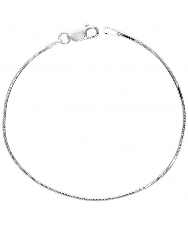 Sterling Silver Necklace Octagon Nickel