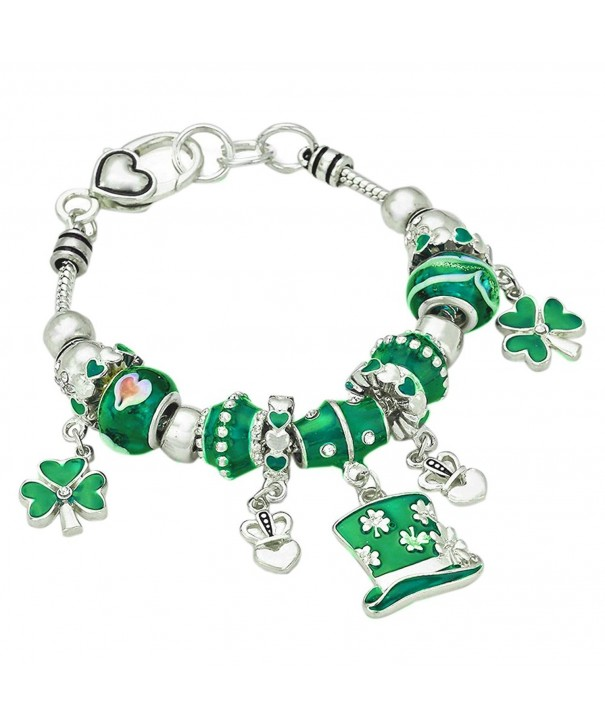 Rosemarie Collections Shamrock Claddagh Bracelet