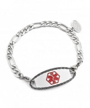 Engraving Stainless Medical Figaro Bracelets