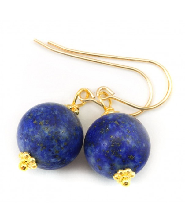 Filled Lazuli Earrings Rounded Accents