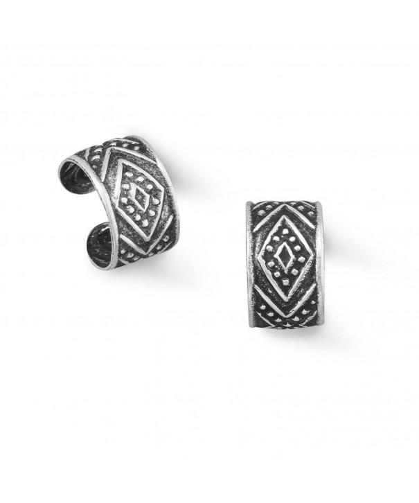 Oxidized Sterling Silver Diamond Design