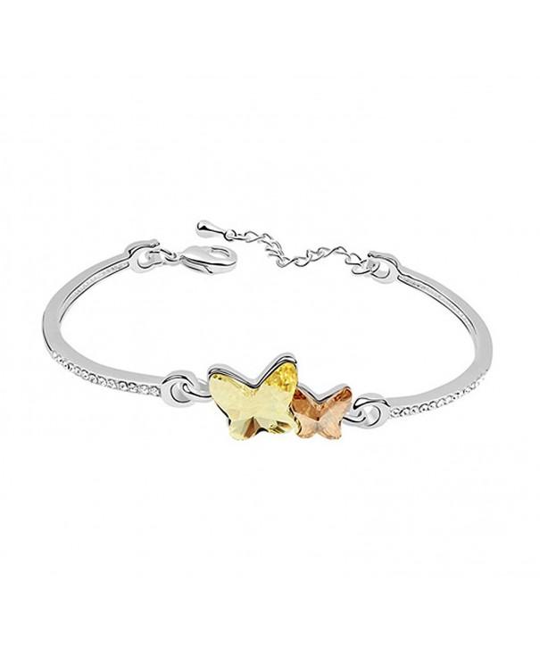 Acefeel Swarovski Elements Butterfly Bracelet