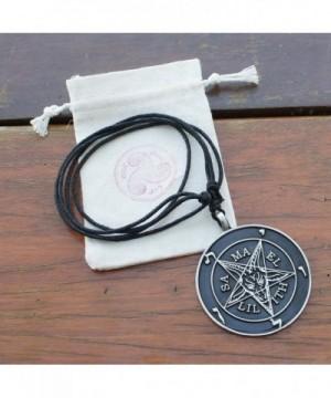 Pendant Necklace Samael Lilith Sigil of Baphomet pewter Pendant Charm  Amulet C3187HATNLX