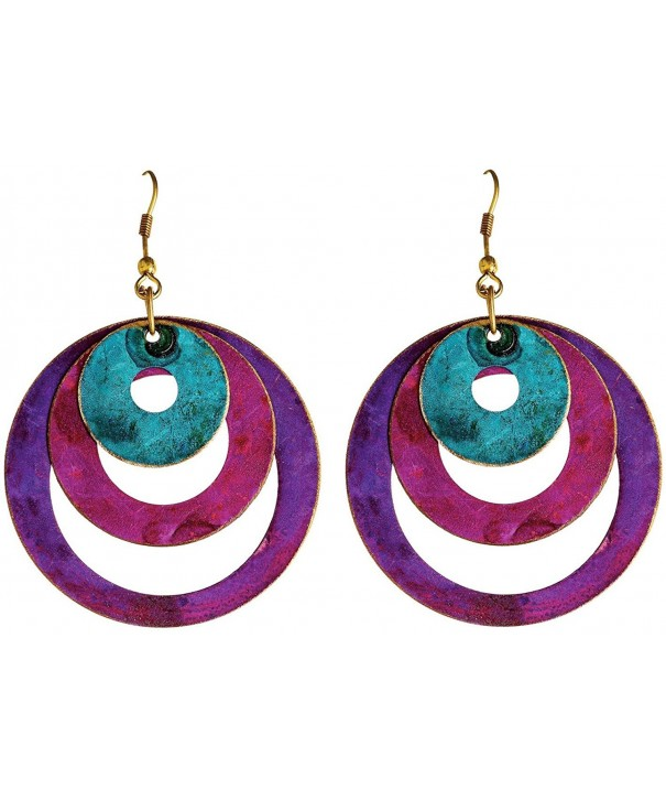 Rain Turquoise Concentric Circles Earrings