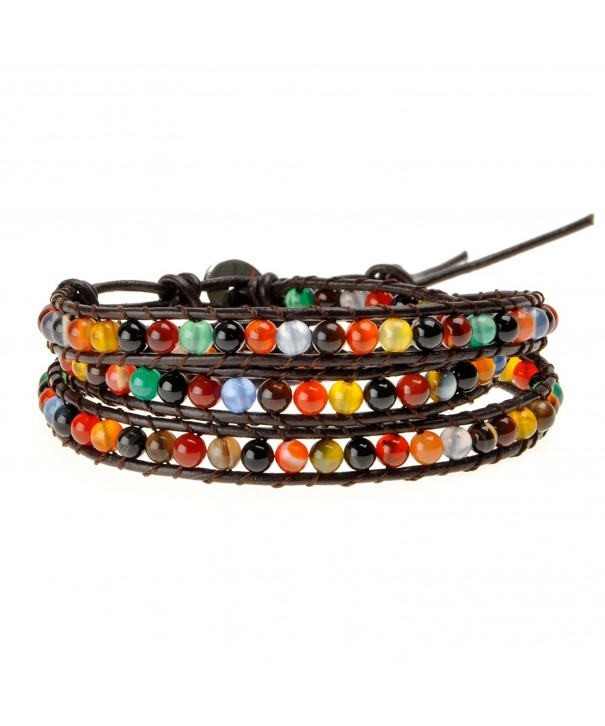ZLYC Unisex Woven Leather Bracelet