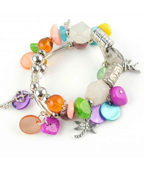 Colorful Acrylic Stretch Bracelet Fashion