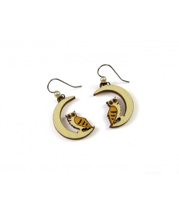 Dangle Earrings Birch Simulated Pearl