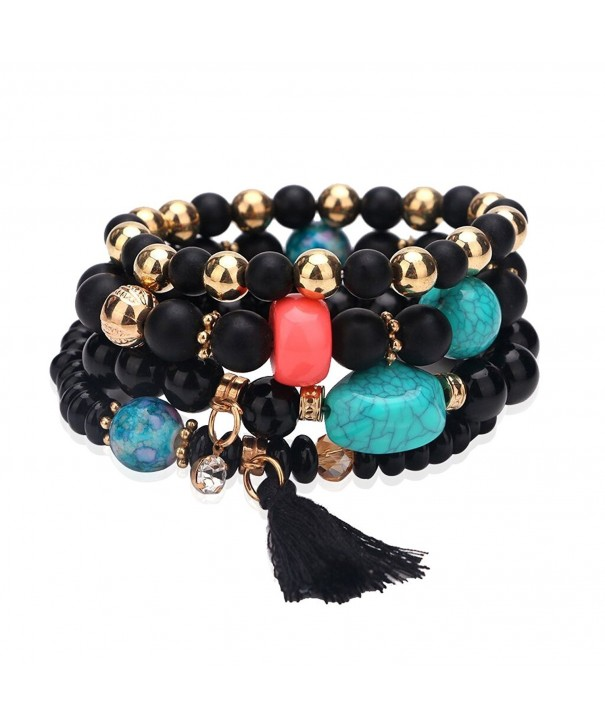 Edress Elastic Bracelet Handmade Womens Stone Jewelry Stack