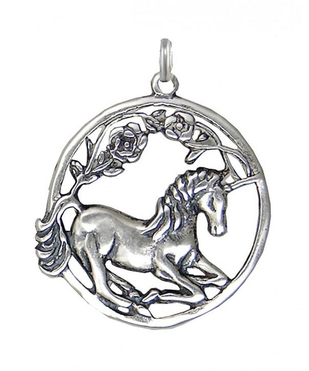 Sterling Silver Round Sitting Unicorn