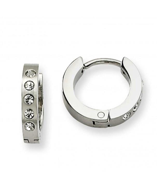 Chisel Stainless Steel Hinged Earrings