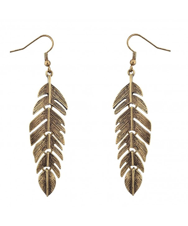 Lux Accessories Burnished Goldtone Earrings