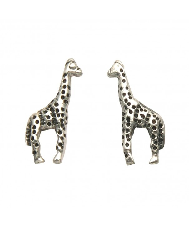 Small Sterling Silver Giraffe Earrings