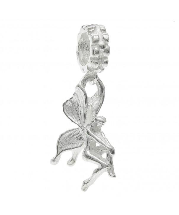Bright Sterling Butterfly European Bracelets