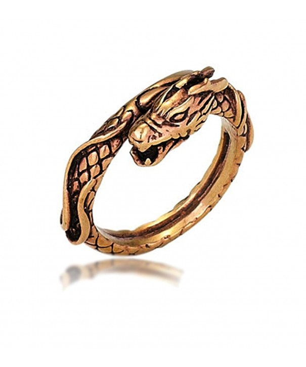 Oxidized Copper Dragon Ring Size
