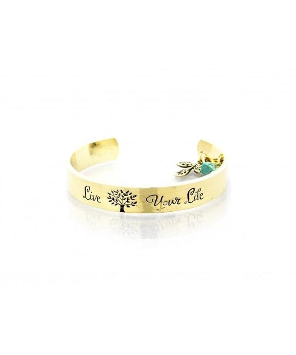 Shiny Goldtone Live Your Bracelet