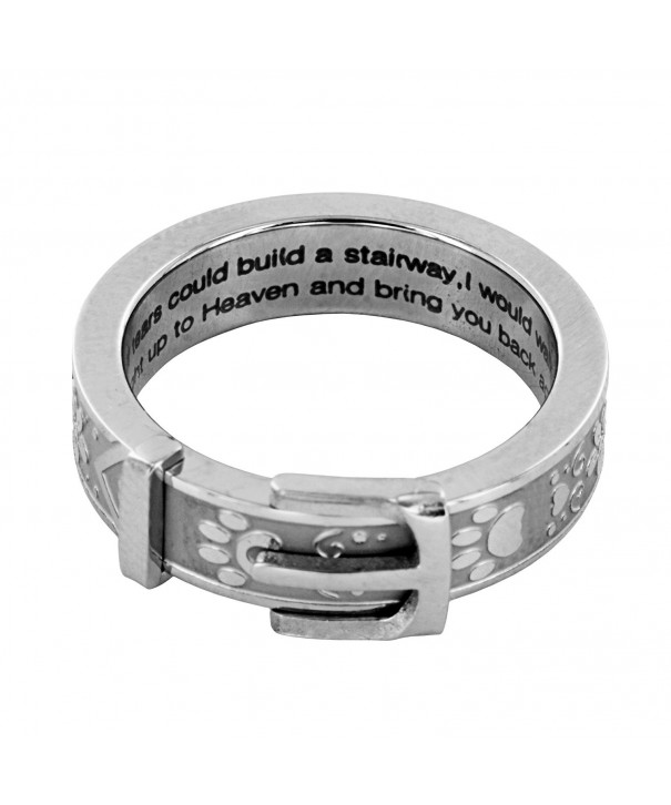 Print Collar Remembrance Ring Silver