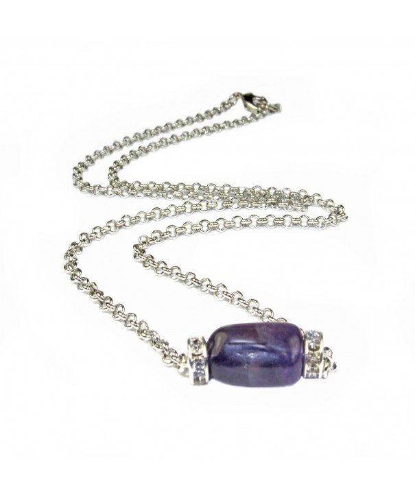 Amethyst Crystal Roundell Necklce Assembeled