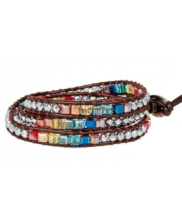 Awareness Leather Bracelet SPUNKYsoul Collection