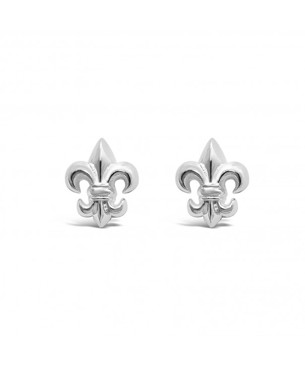 Sterling Silver Fleur Earrings Hypoallergenic