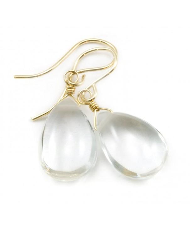 Filled Crystal Earrings Teardrop Briolettes