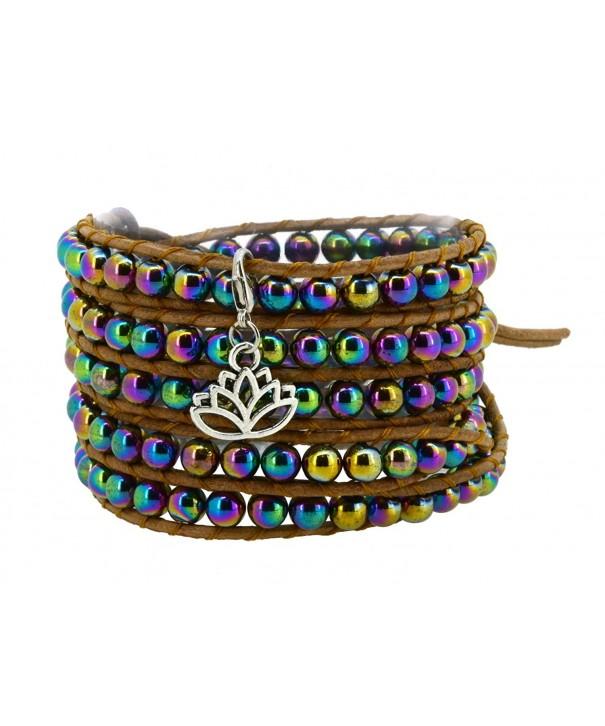 Rainbow Simulated Hematite Bracelet Removable