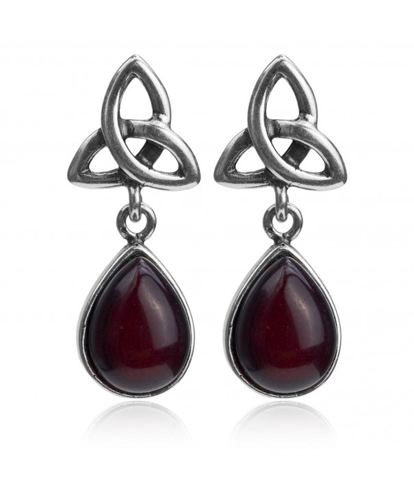 Cherry Sterling Silver Celtic Earrings