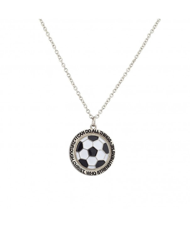 Lux Accessories Football Strengthens Necklace