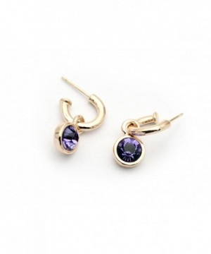 Signore Signori Purple Earrings Swarovski Elements