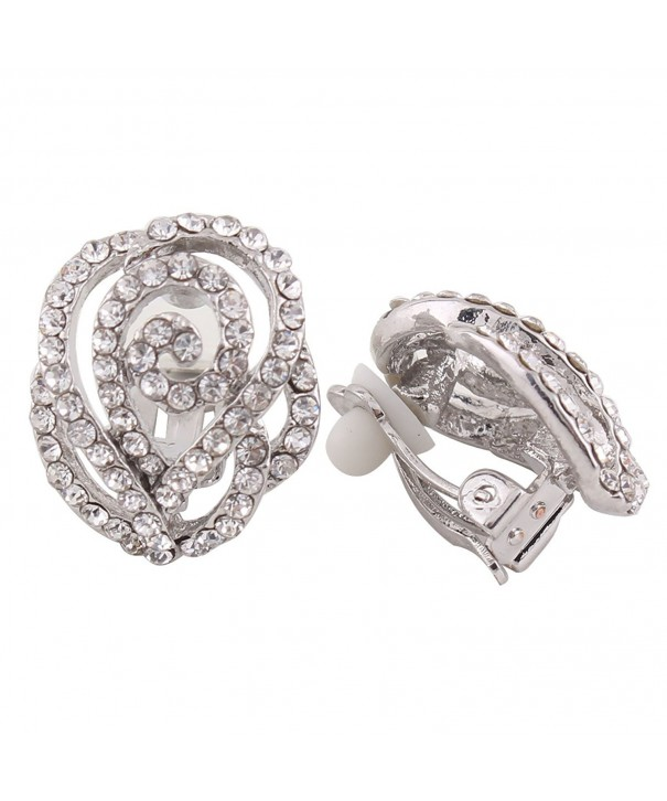Grace Jun Rhinestone Crystal Earrings