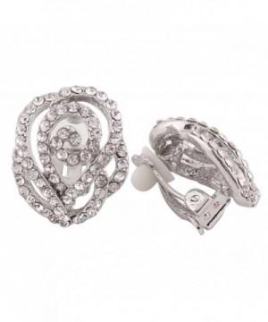 Grace Jun Rhinestone Crystal Earrings