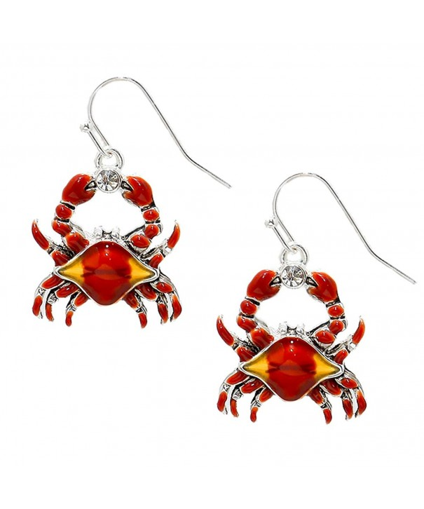 Liavys Red Crab Fashionable Earrings