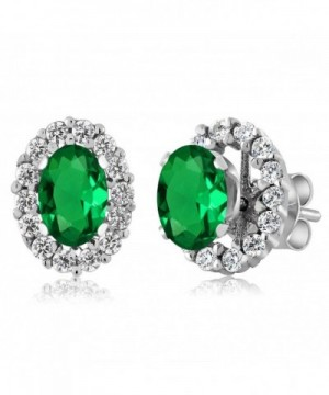 Emerald Sterling Silver Earrings Jackets