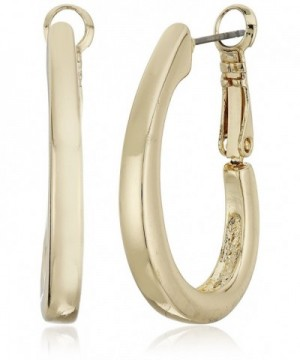 Napier Gold Tone Large Oval Earrings