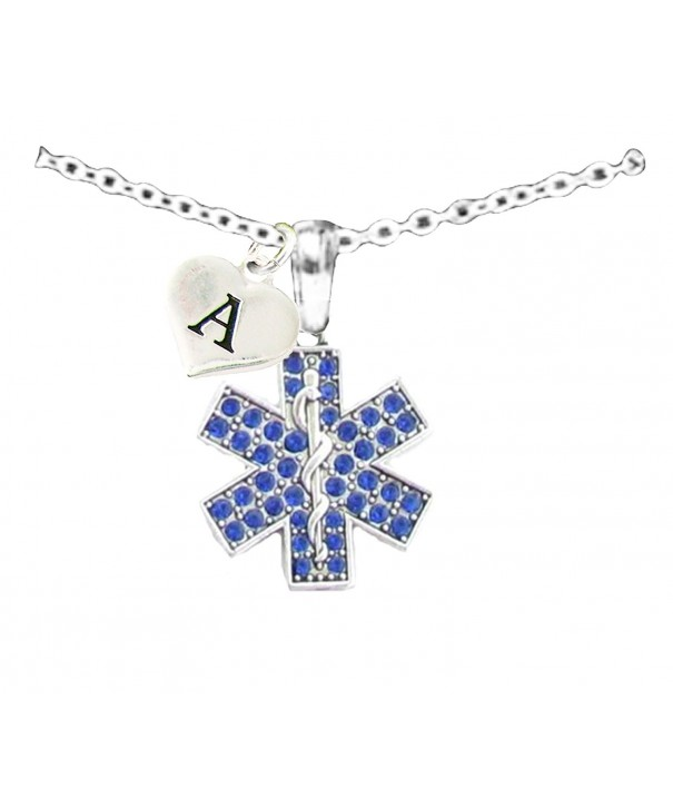 Crystal Paramedic Necklace Jewelry Initial