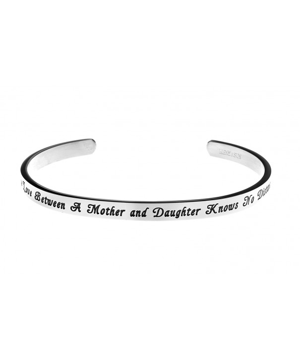 Daughter Distance Inspirational Messaged Bracelet