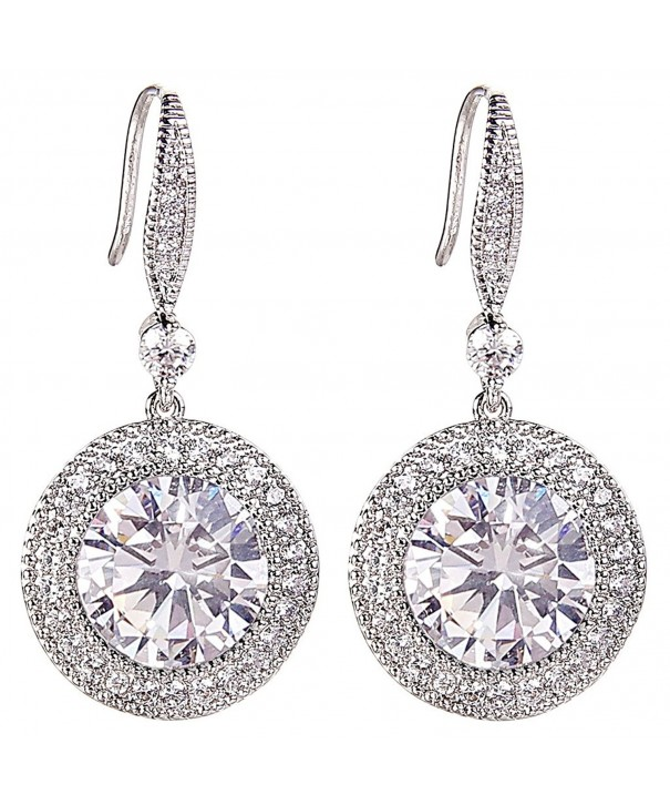 EleQueen Silver tone Zirconia Birthstone Earrings