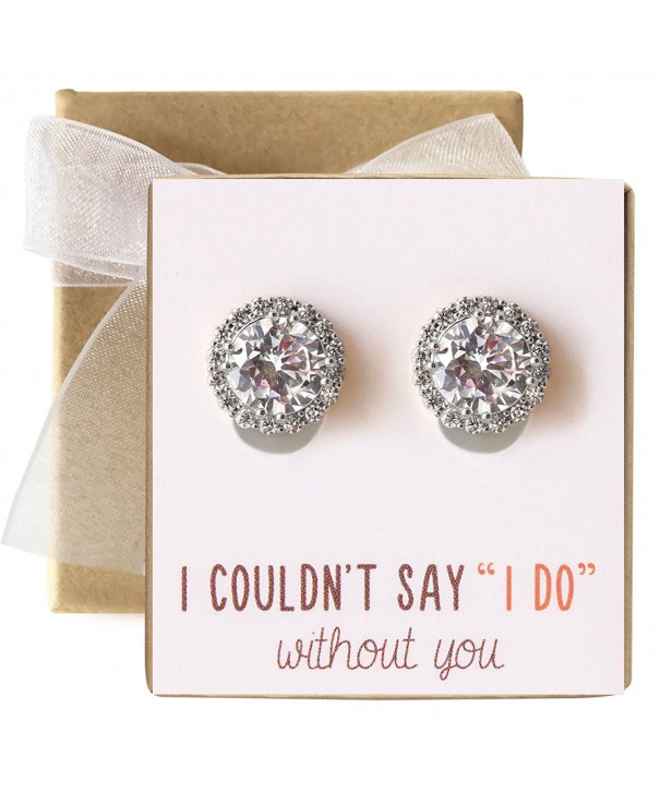 Bridesmaid Clip Earrings Bridal Party