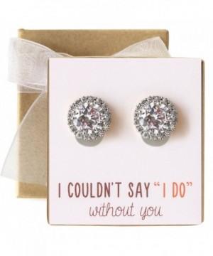 Bridesmaid Clip Earrings Bridal Party