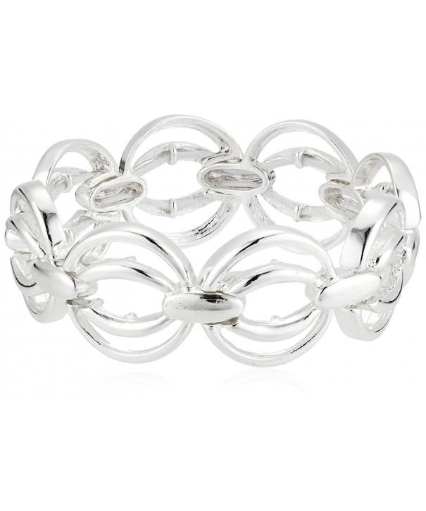 Napier 60480456 G03 Silver Tone Stretch Bracelet
